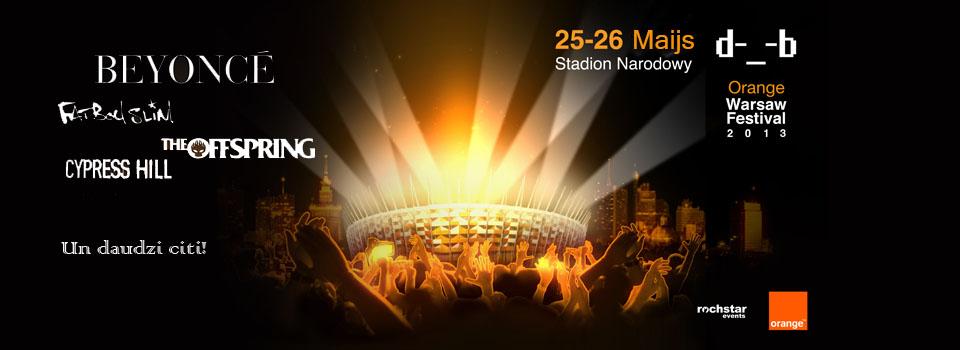 Braucam kopā uz Varšavu: Orange Warsaw festivālu 2013